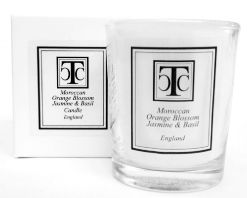 Moroccan Orange Blossom Jasmine & Basil Scented Candle 10 hour